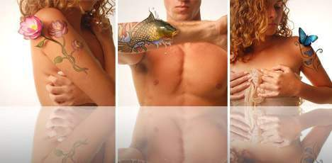 طرح های گرافیکی روی بدن